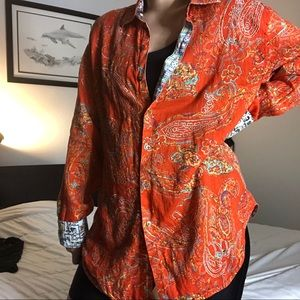 Bright Orange Robert Graham Dad Shirt